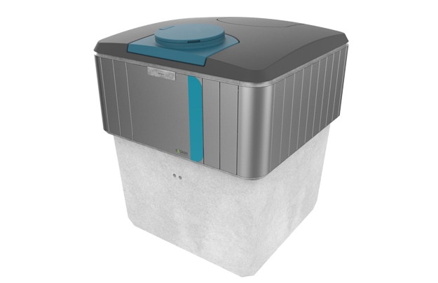 PARTLY-UNDERGROUND BILATERAL CONTAINER